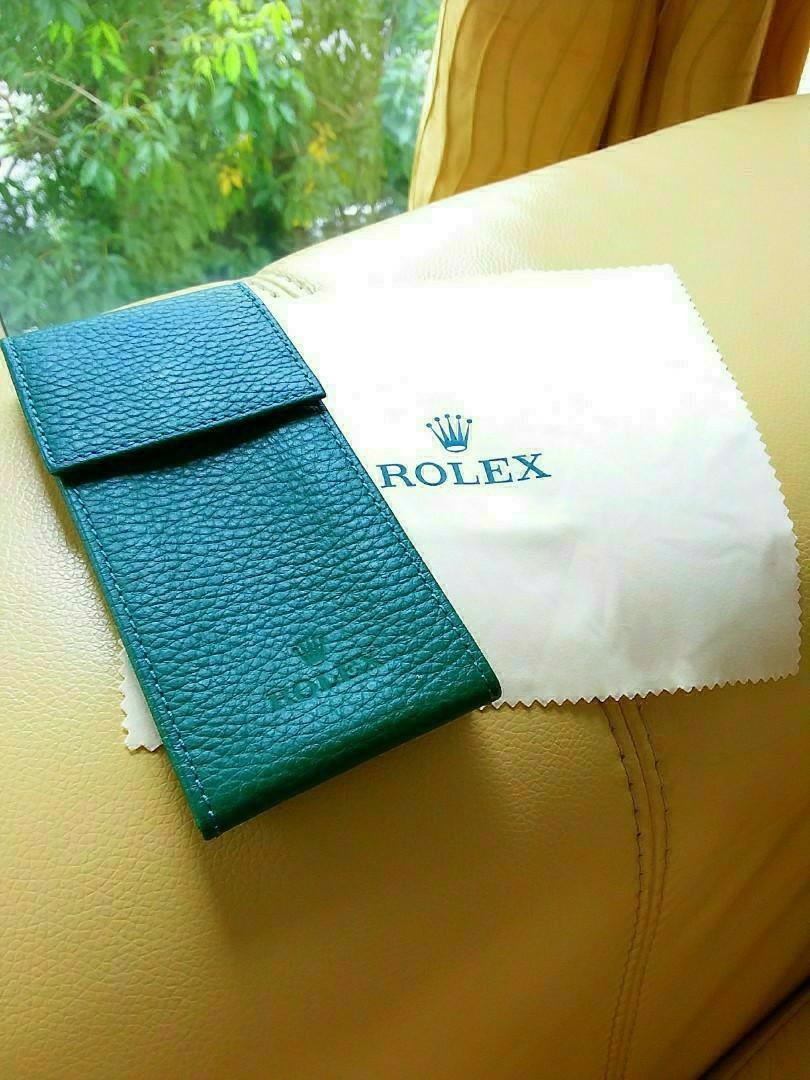 Rolex Watch Leather Pouch w Rolex Cleaning Cloth - Brandnew Set.