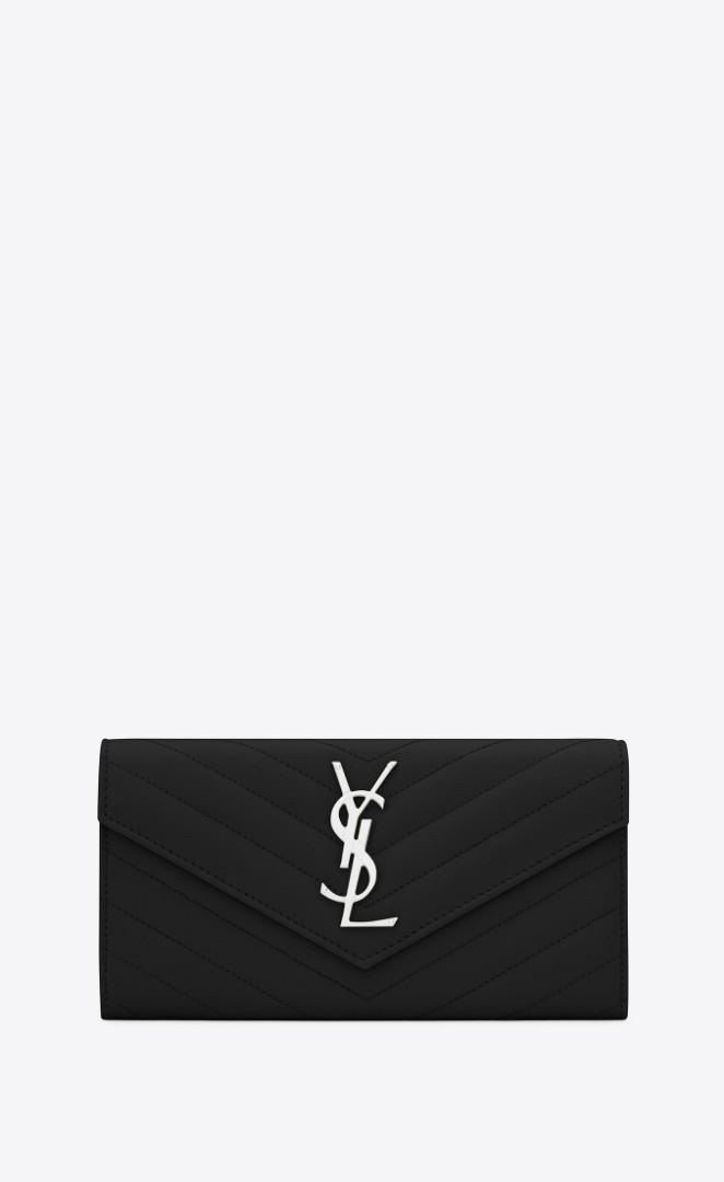 Saint Laurent Monogram Large Flap Wallet (YSL)