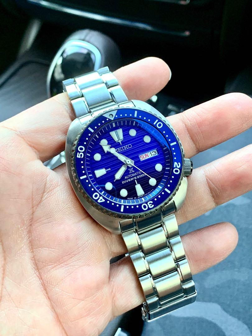 """Seiko Prospex Turtle SRPC91 SRPC91J1 """"Save The Ocean 🌊 """" with Crystal Clear Curve Blue Sapphire Glass. SRPD21  SRPA21 SRPC91 SRPB11 SRPE03 SRPE05 SRPE07(Pls read my list details for your requirement)"""