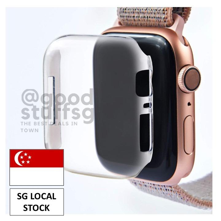 [SG STOCK] 2Pcs Apple Watch Series 5/4/3/2/1 [44/42/40/38mm] Transparent HARD PC Case Casing Cover