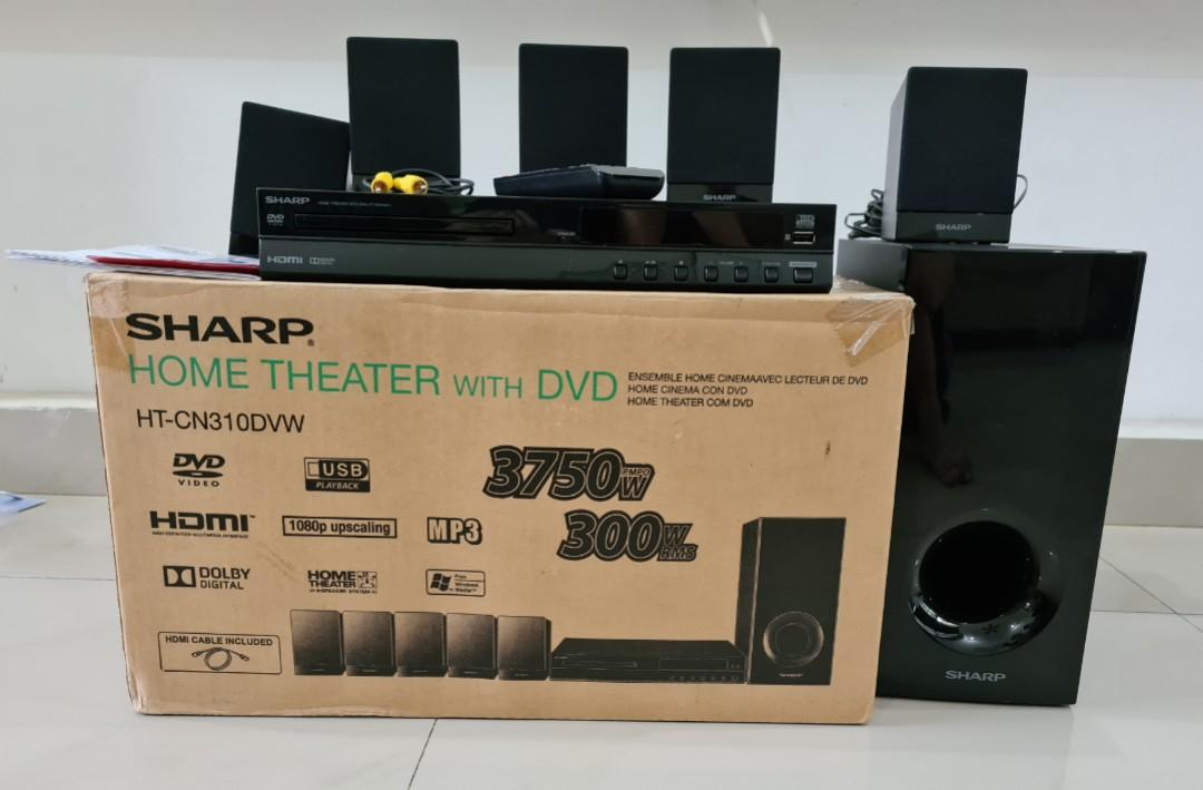 Sharp Home Theater with DVD HT-CN310DVW