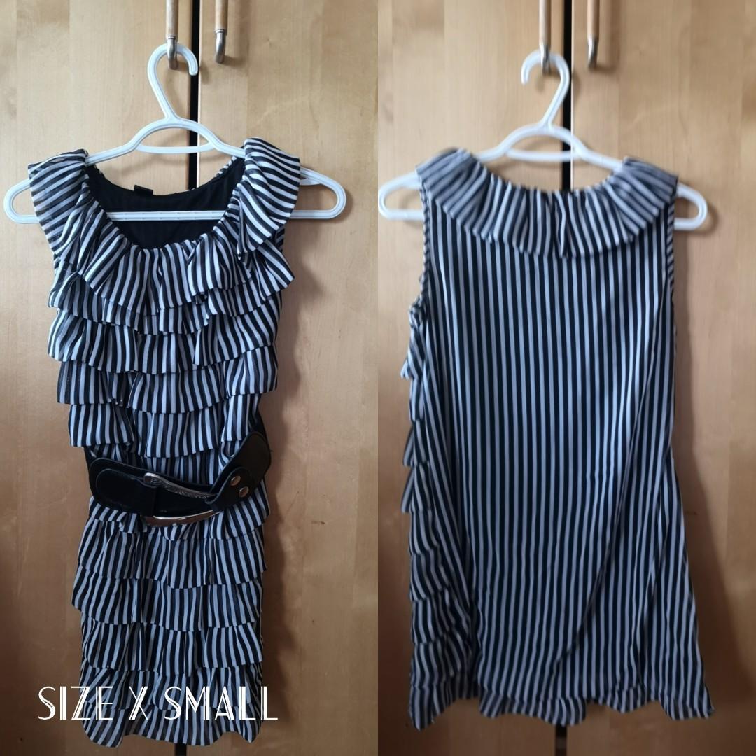 Striped Ruffle Minidress