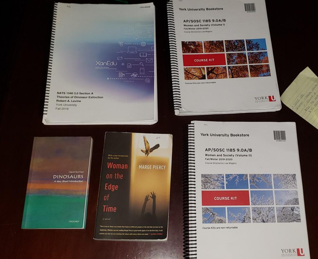 Textbooks for sale, YORK UNIVERSITY
