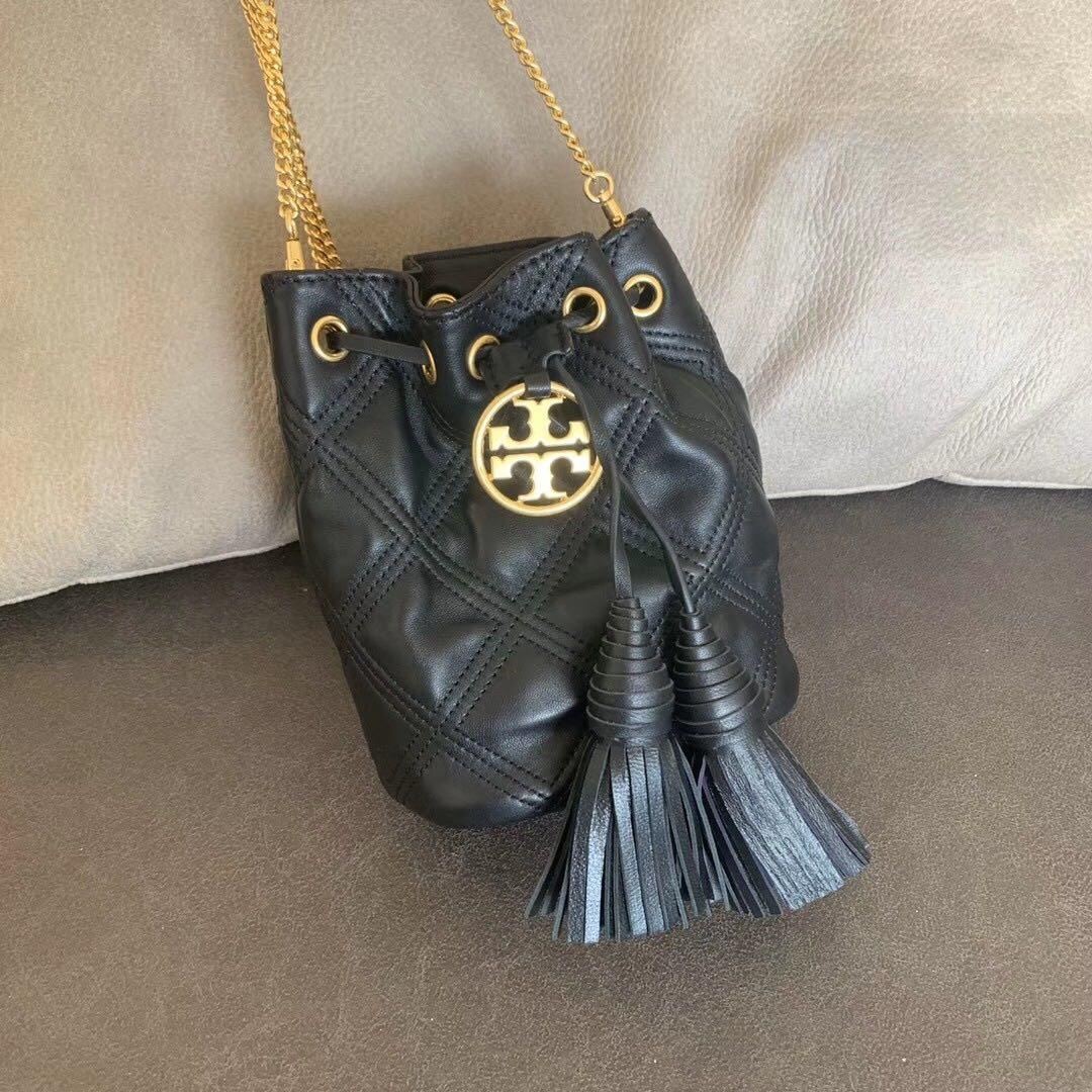 Tory Burch chelsea Quilted small leather bucket bag handbag slingbag