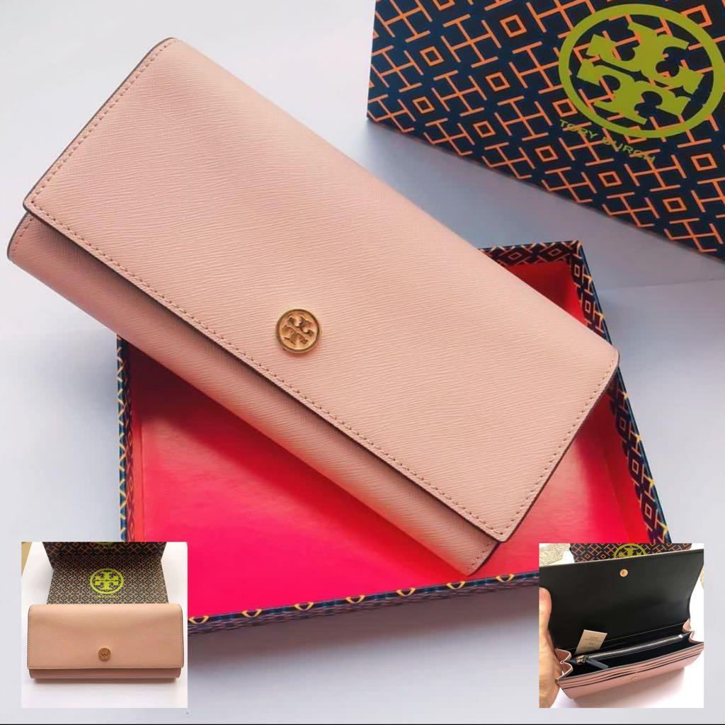 TORY BURCH Robinson Envelope Continental Wallet Pink