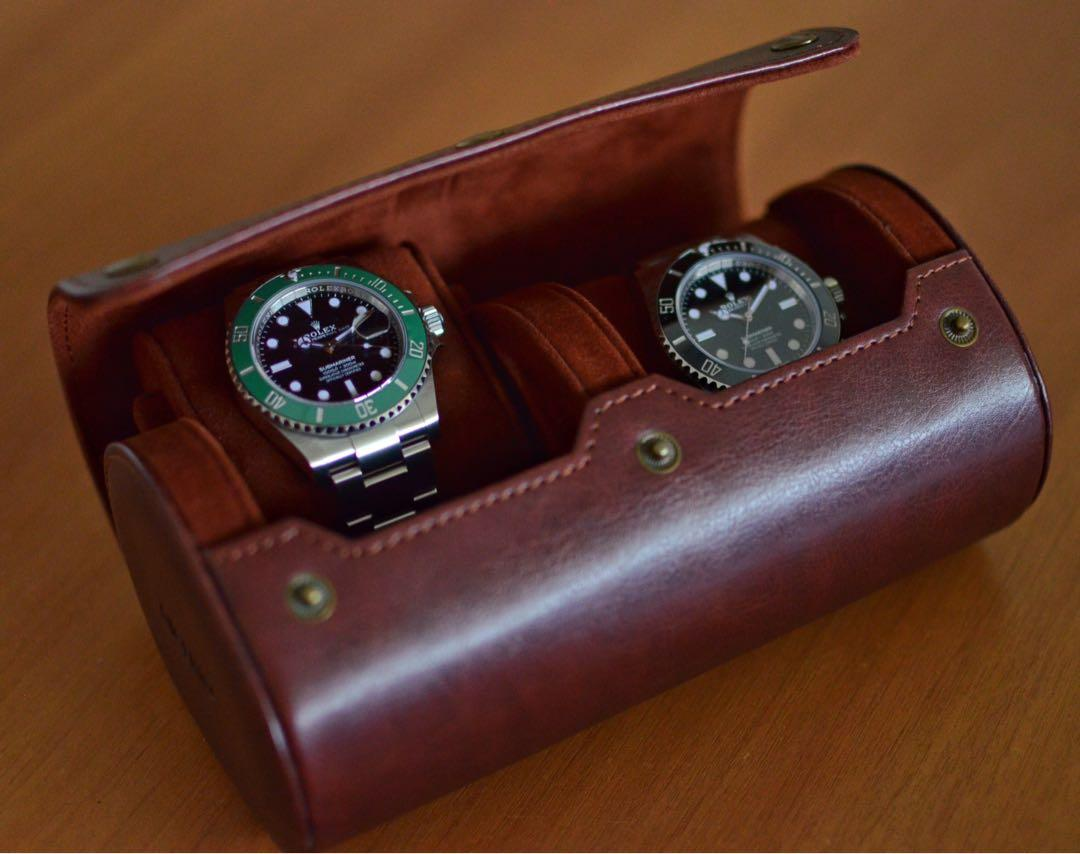 Travel watch roll - 2 slot