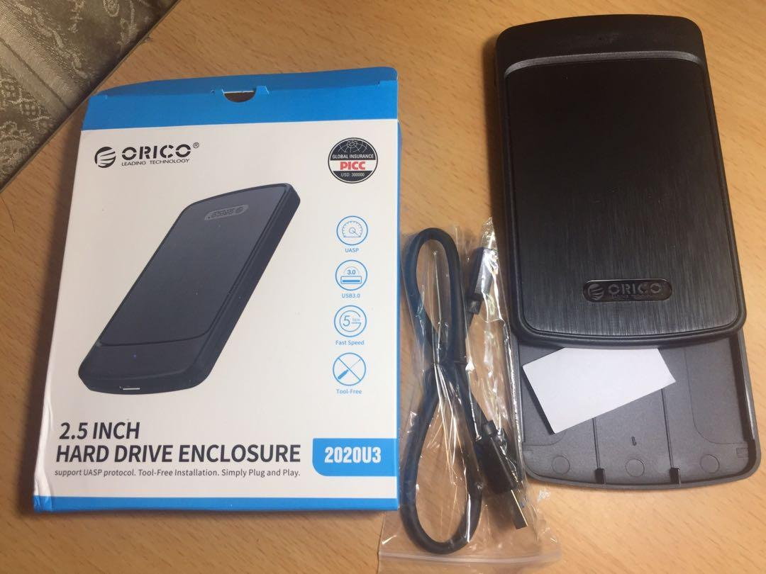 (現貨不用等/我最便宜)USB3.0 2.5 吋 移動硬碟外接盒2020U3…拉絲黑色外殼(ORICO/奧睿科)