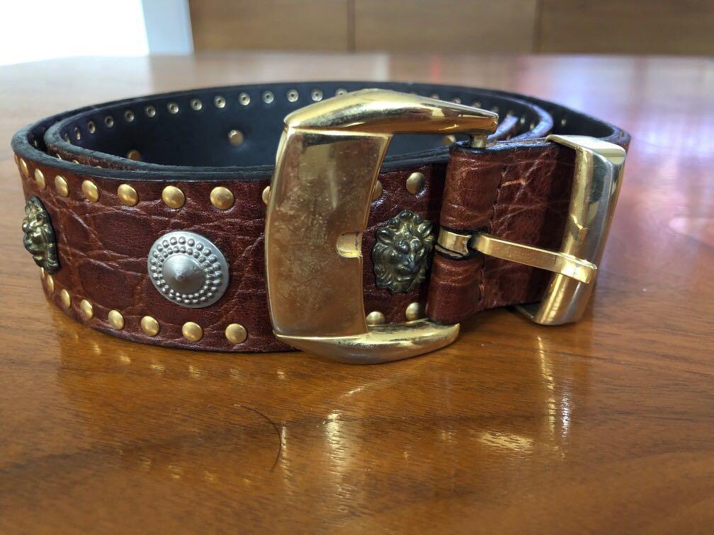 Vintage Versace Belt Small crests