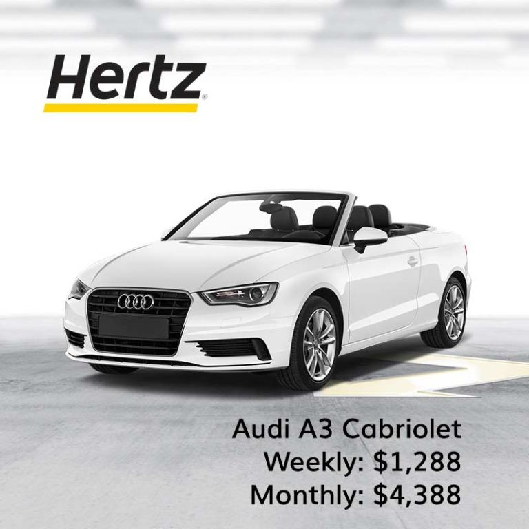 Weekly & Monthly Rental for Cabriolet and Convertible Audi, BMW