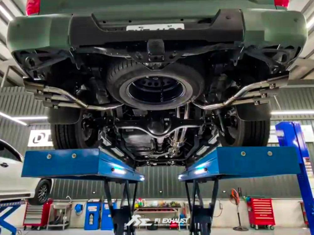 【YGAUTO】FI Toyota 豐田 Tundra TRD 2020+ 中尾段閥門排氣管 全新升級 底盤