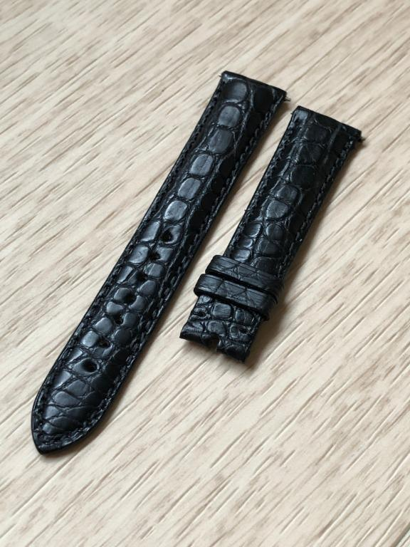 CLEARANCE - 18mm Black Alligator/Crocodile Leather Watch Strap