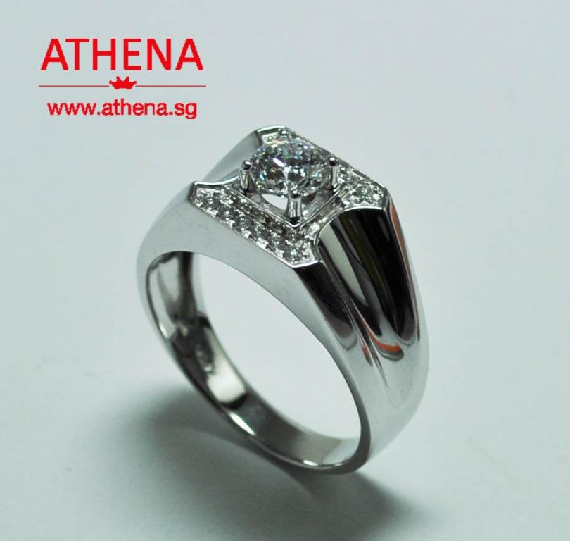 JW_DR_1230 JEWELLERY 18K WG DIAMOND RING D1-0.70CTS D6-0.06CTS 8.30G [ GIA REPORT CERT. ]