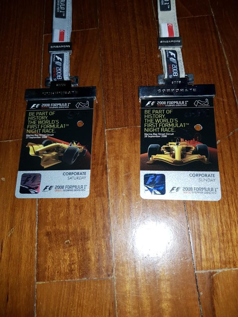 2008 F1 tickets Corporate Silver