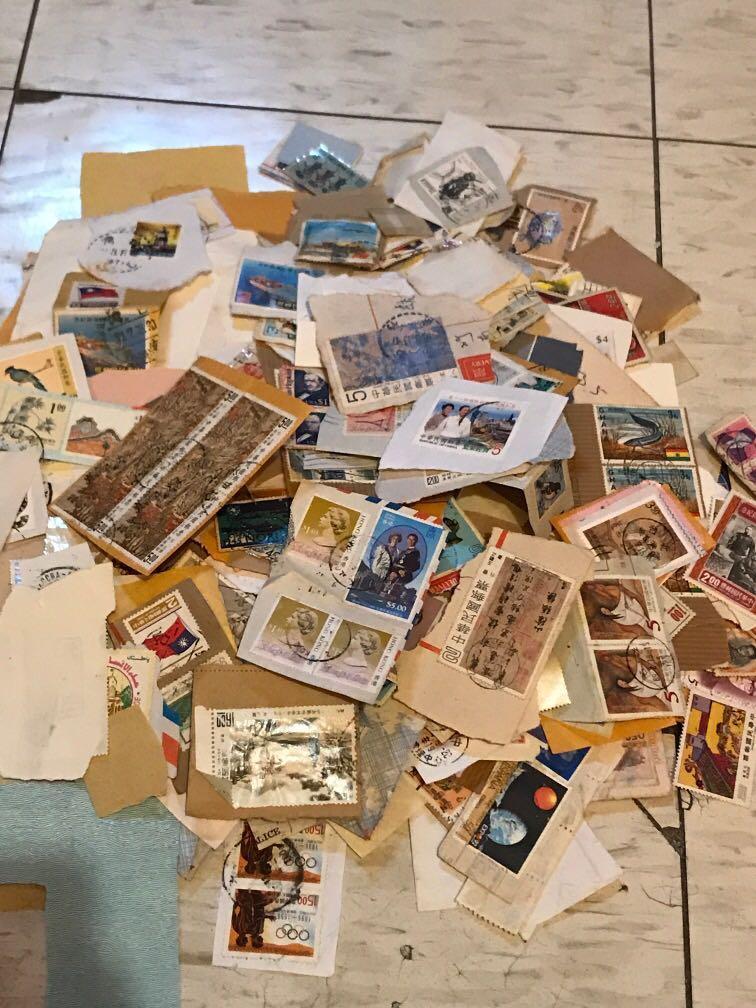 各種蓋過郵戳之郵票 意者整批收購