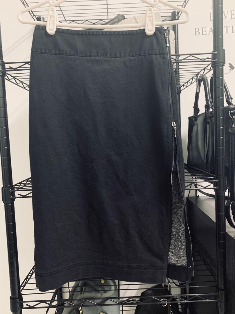✨ iroo ✨ 炭灰牛仔單寧裙。全新品