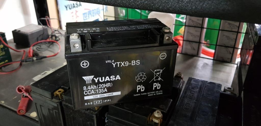 (二手中古電池) YUASA湯淺9號 YTX9-BS -二手機車電池 150機車專用 數值漂亮,品項優