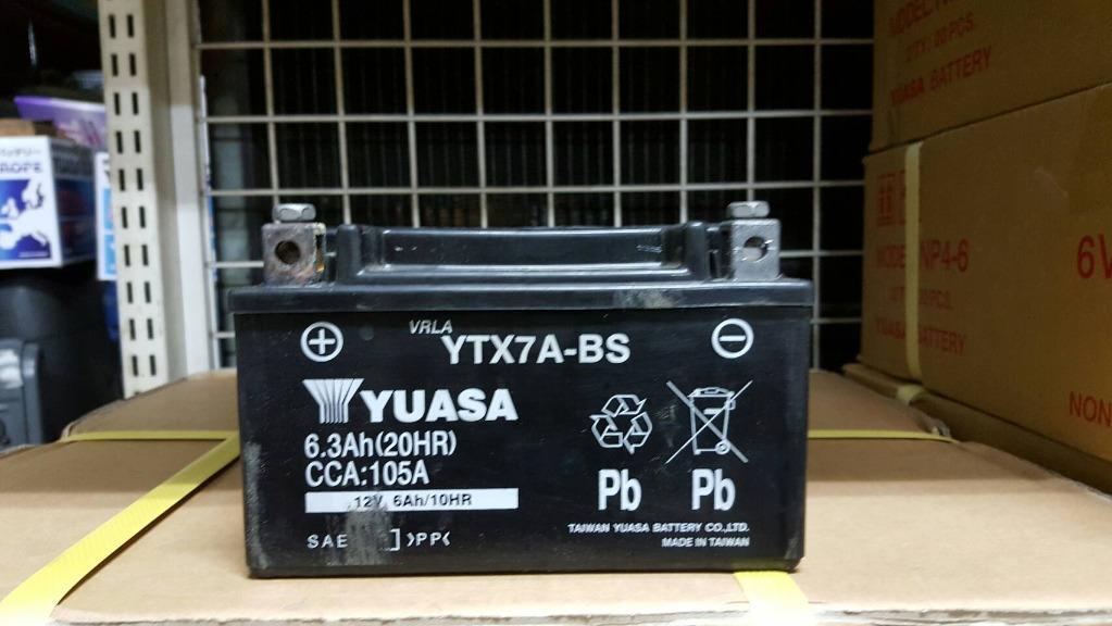 (二手中古電池) YUASA YTX7A-BS -二手機車電池 7號 125機車專用 數值漂亮,品項優