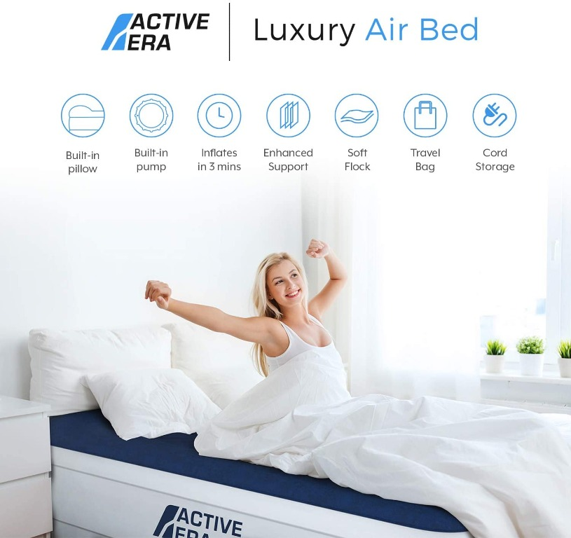 Active Era King Size Double Queen Air, Serta Perfect Sleeper Queen Air Bed With Headboard Warranty
