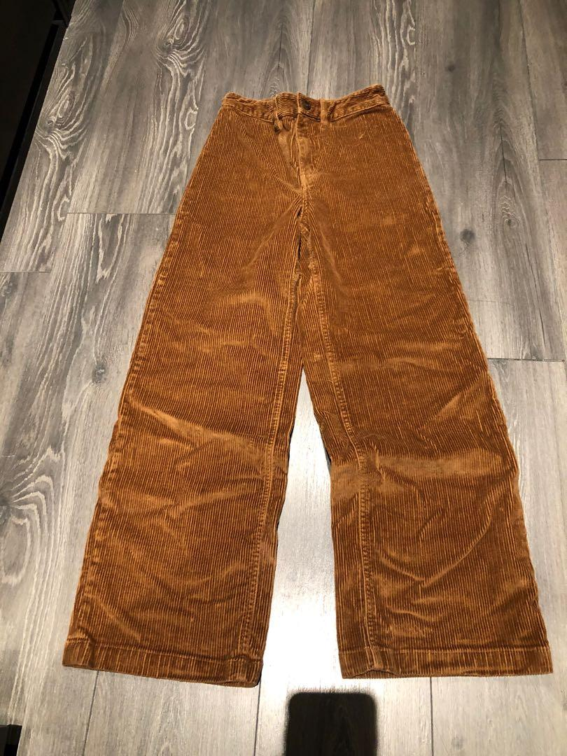 Aritzia Wilfred free corduroy pants CAMEL size 2