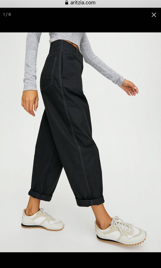 Aritzia Wilfred free day off pants WHITE size 4