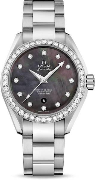 Authentic 23115342057001 - OMEGA Mod. SEAMASTER CO-AXIAL MASTER CHRONOMETER Lady Watch