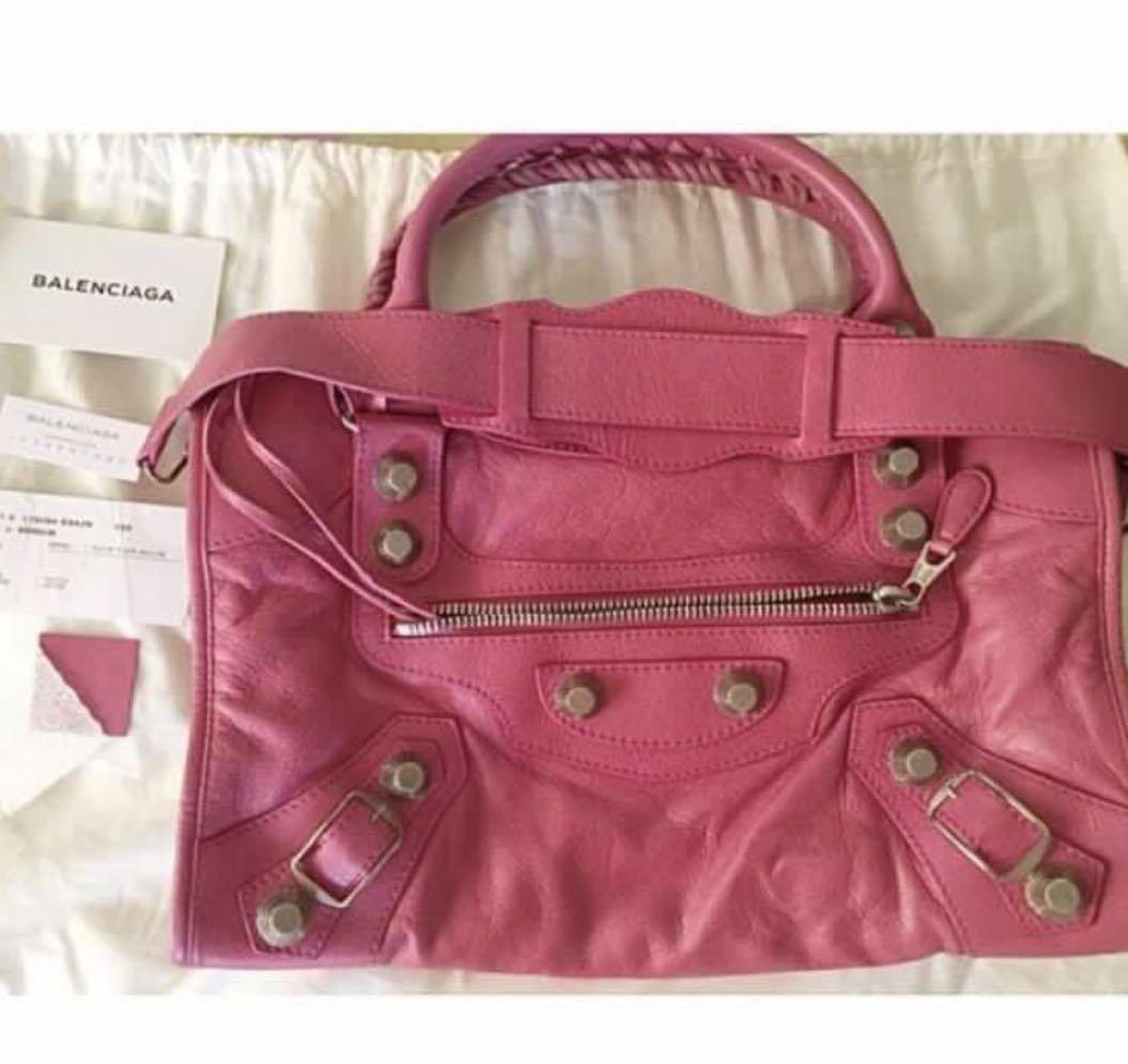 Authentic Balenciaga G21 Silver Hardware In Pink