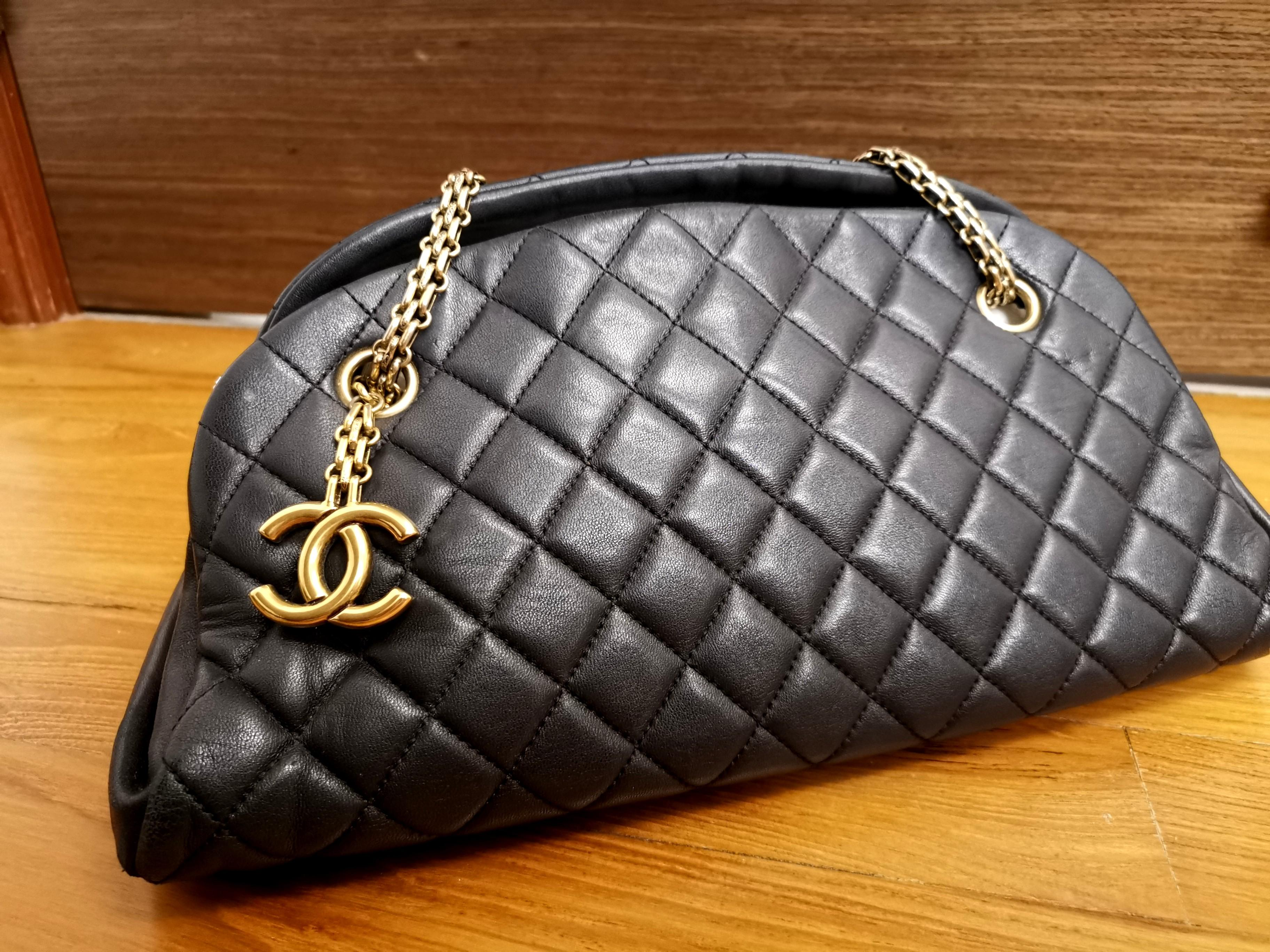 Authentic Chanel Mademoiselle Calfskin Bag