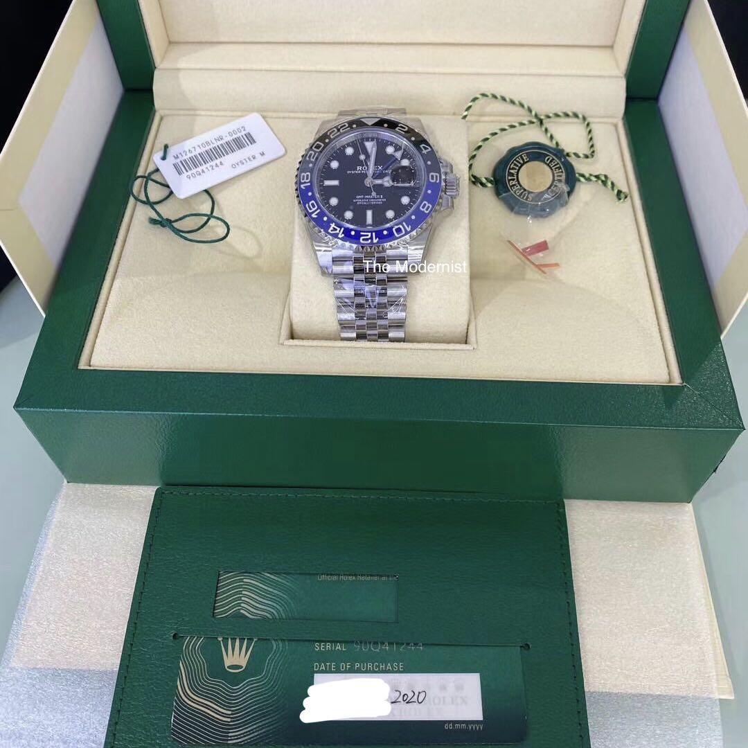 Authentic Rolex GMT-Master II 126710BLNR
