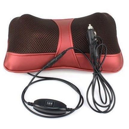 Bantal Pijat Shiatsu Car Heat Neck Massage Pillow - 8028 - Red