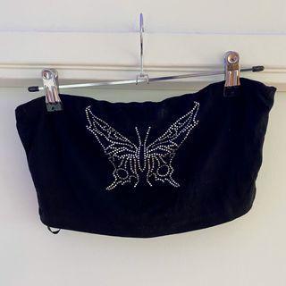 Black Butterfly Bandeau