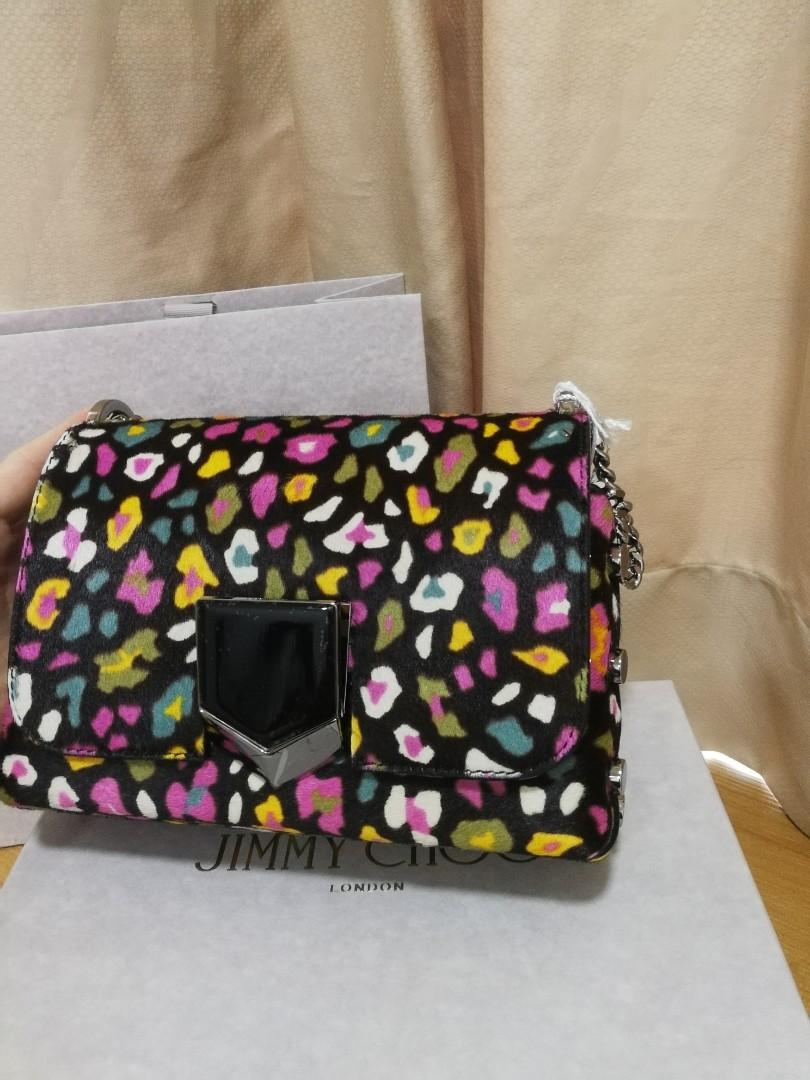 Bnib Jimmy Choo Multicoloured Sling Bag Authentic