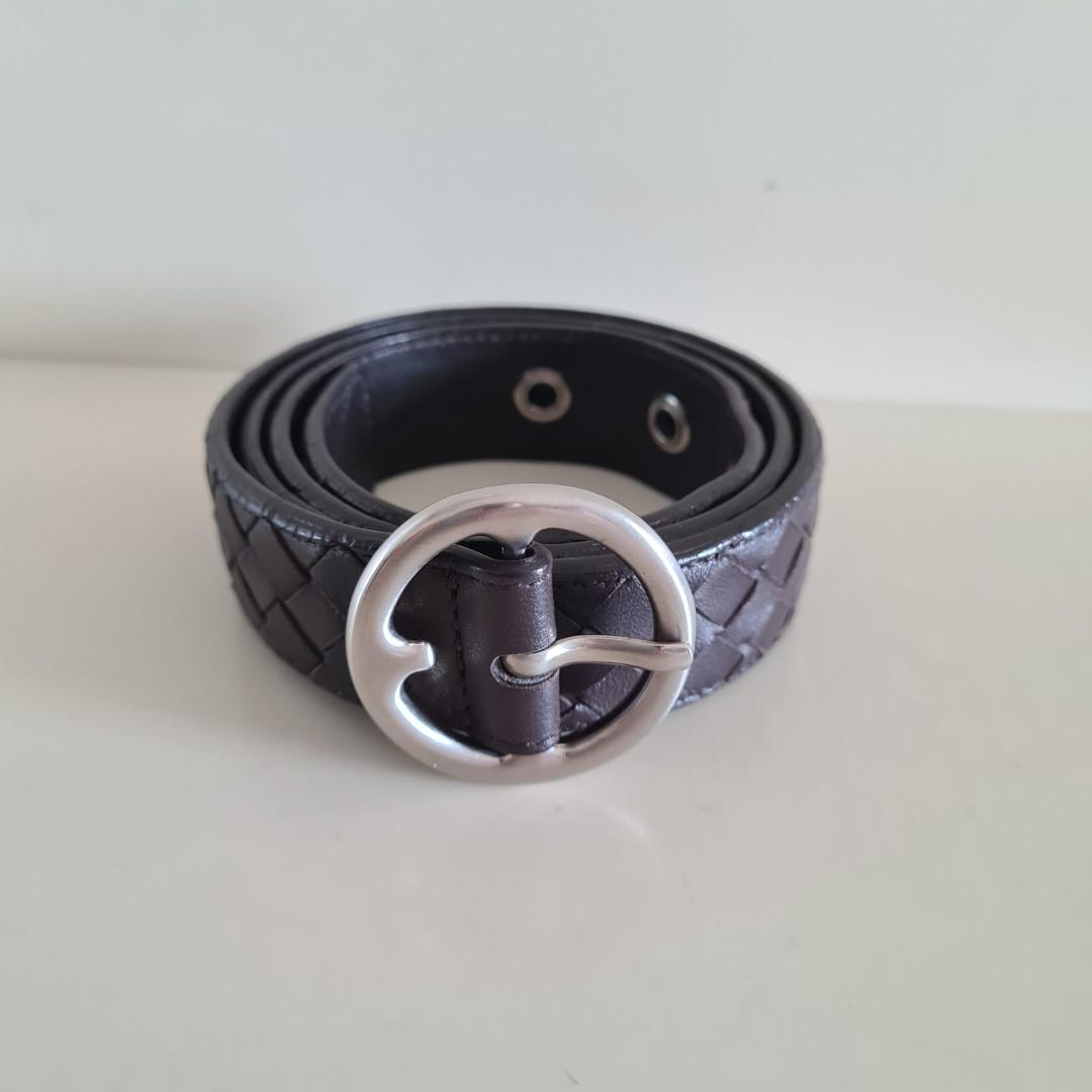 Bottega Veneta Leather Belt Brown
