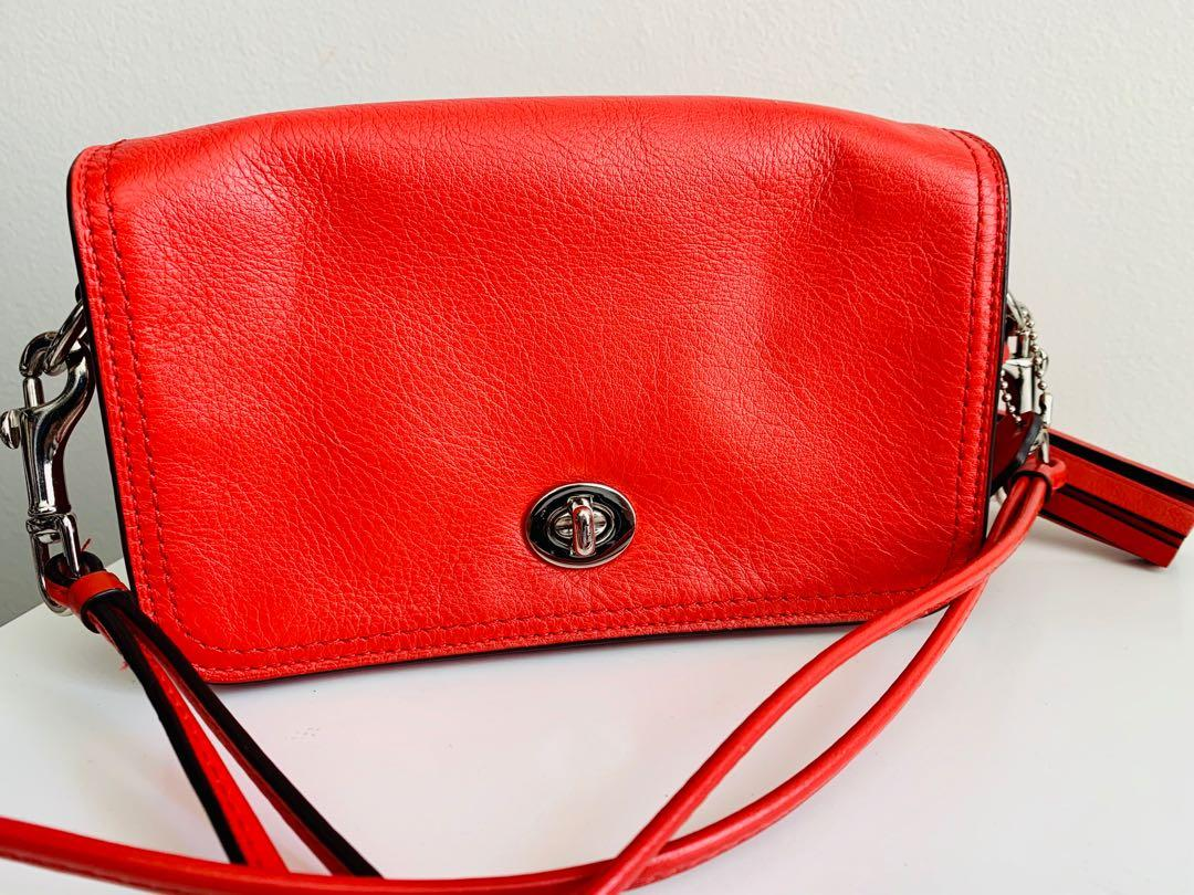 Brand new authentic Coach dinky salmon crossbody bag