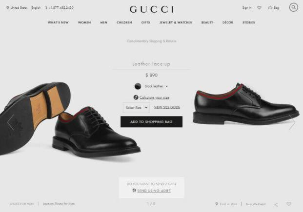 BRAND NEW W BOX GUCCI Sneakers Leather Lace Up Dress Shoes