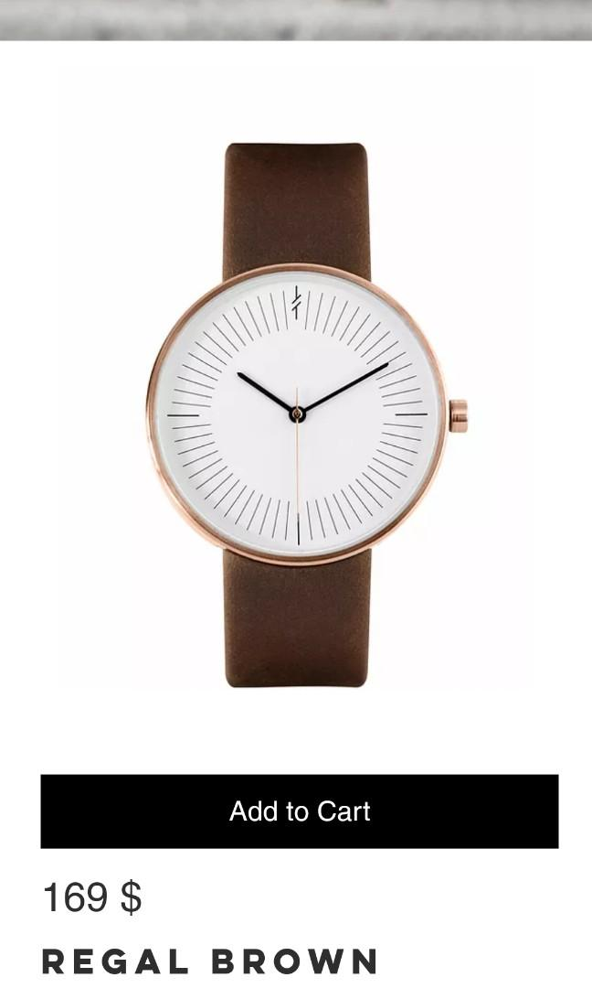Branded leather Simpl watch