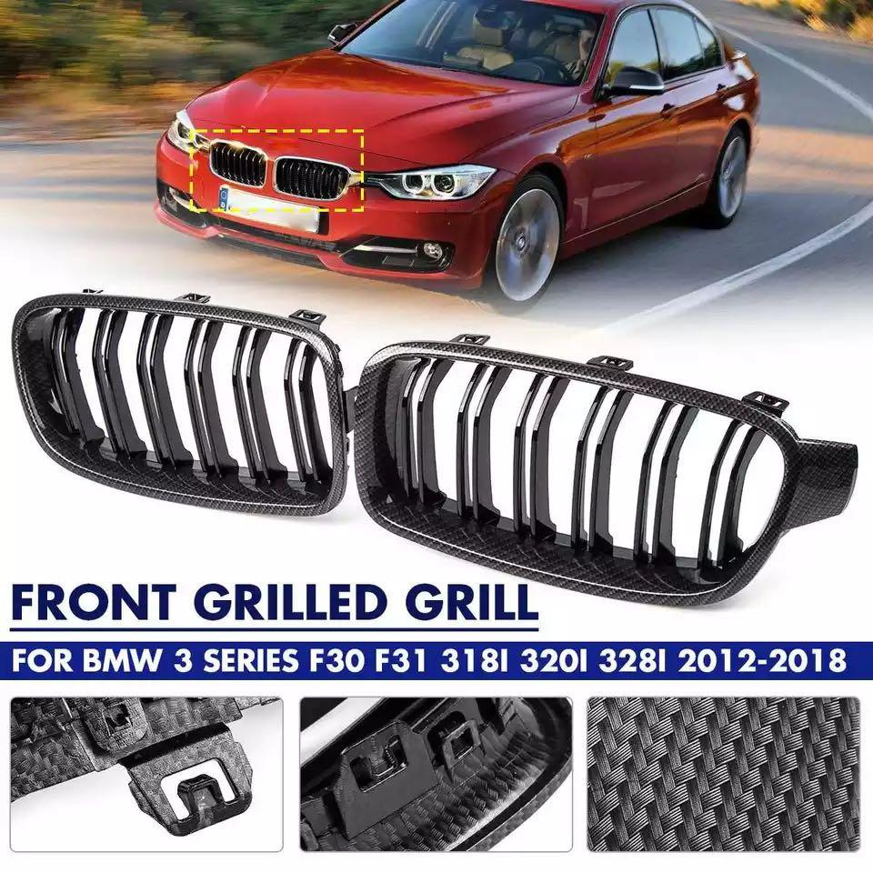Carbon Grill BMW F30 12-18, Car Accessories, Accessories on Carousell