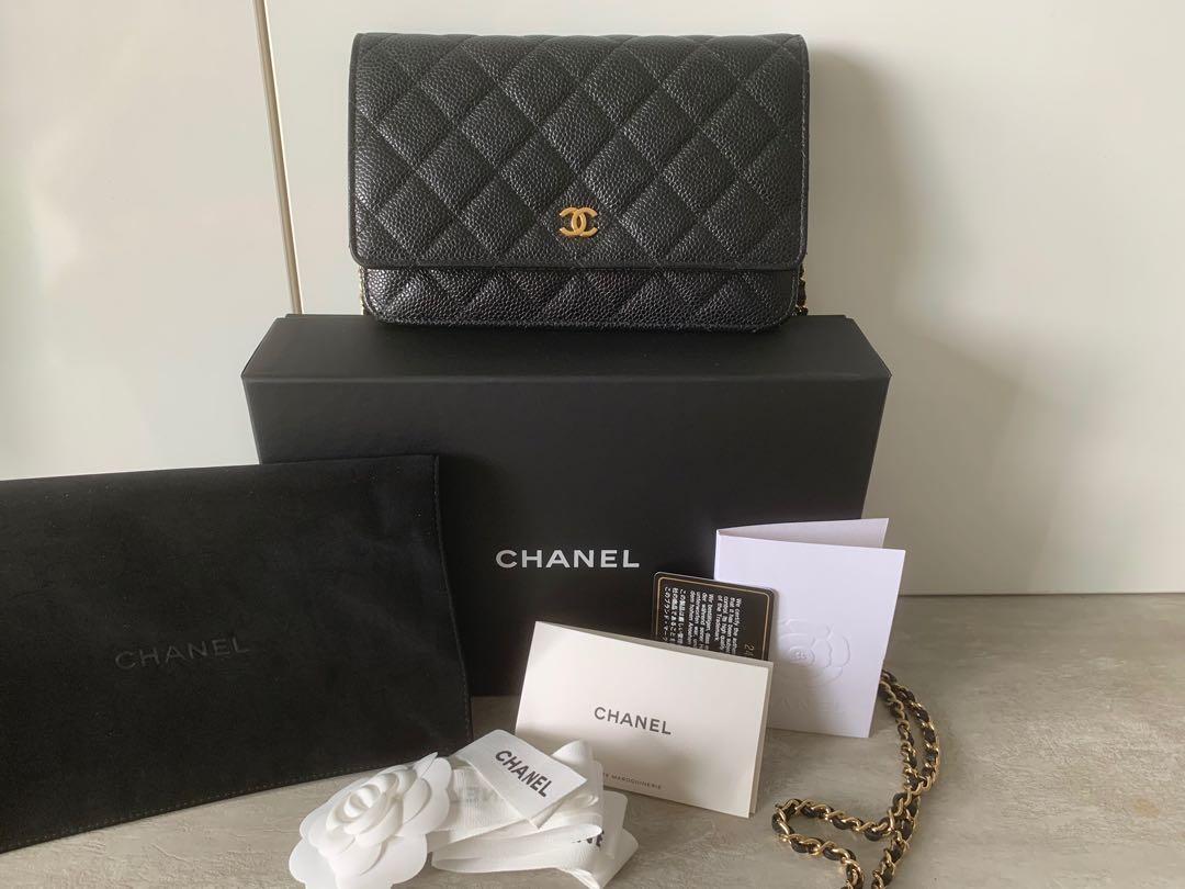 Chanel Wallet on chain woc caviar ghw