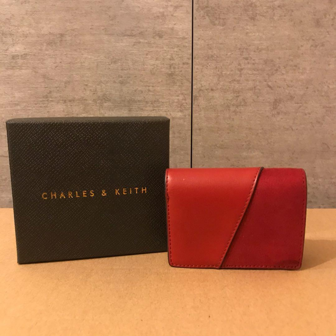 Charles and Keith Red Mini Wallet