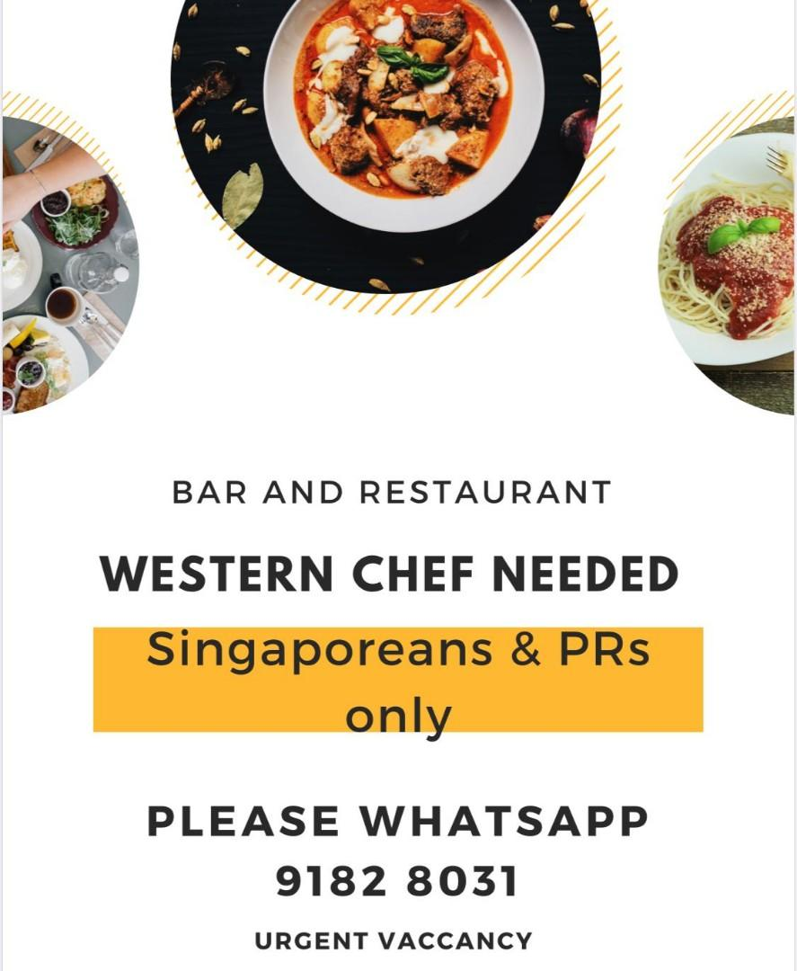 Chef job / cook / western