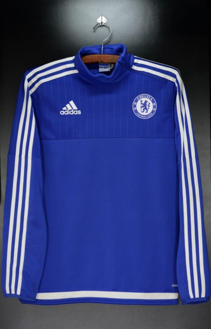 Chelsea 2015-2016 Training Sweat Adidas Original Home Size Small Jaket Tracktop Training Jacket Jersey Adidas S12069 Second