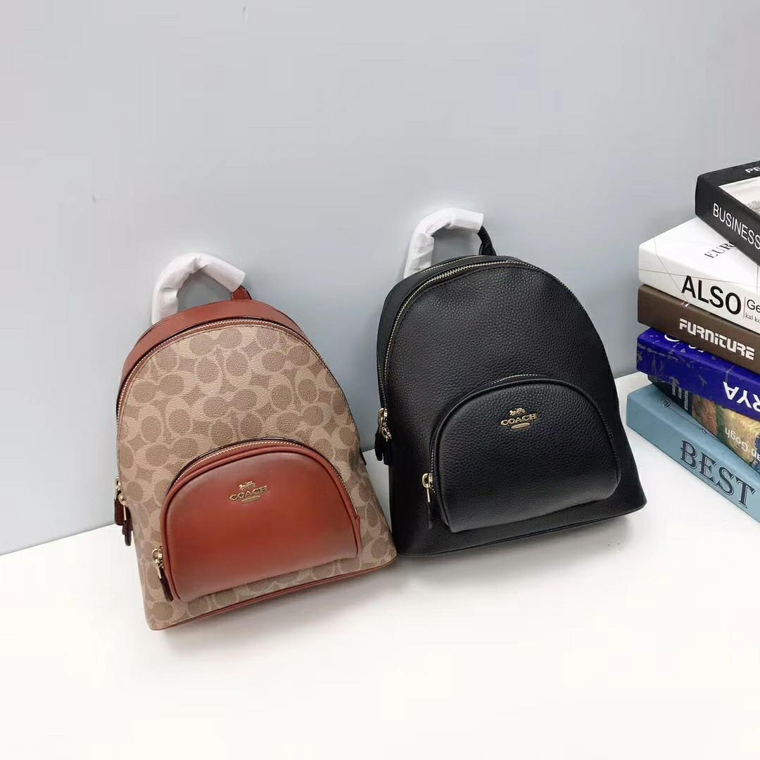 COACH Carrie Backpack雙拉鍊後背包