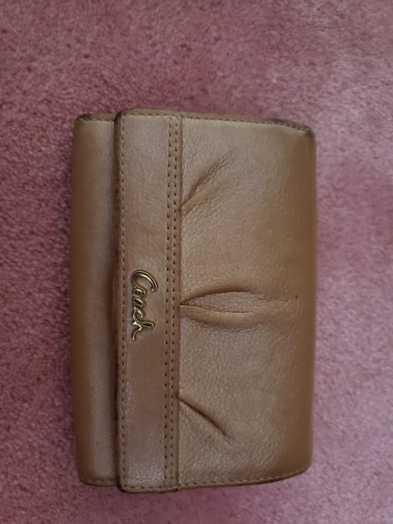 Coach wallet pearly brownish pink