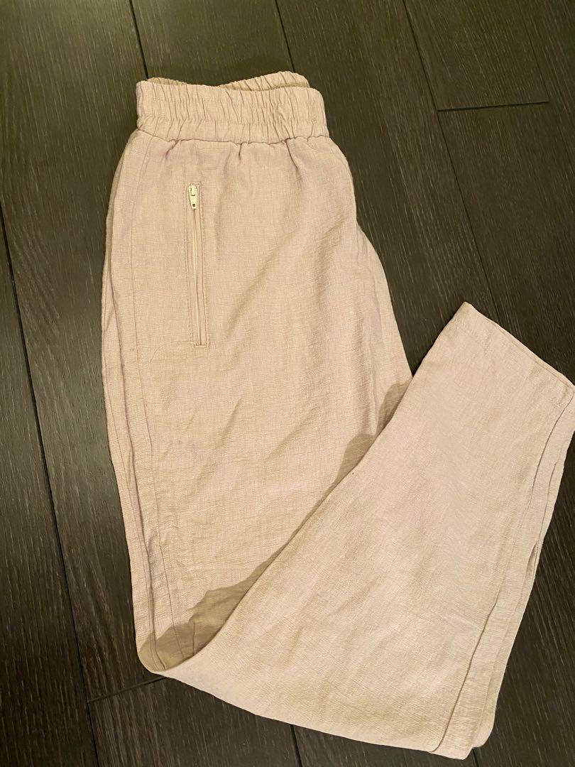 Cream colour linen pants