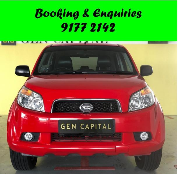 Daihatsu Terios. SUV. Place a partial deposit for Better rates.$500 deposit only. Whatsapp 9177 2142 to reserve.Cheap Car Rental. Cheap Car. Budget car.