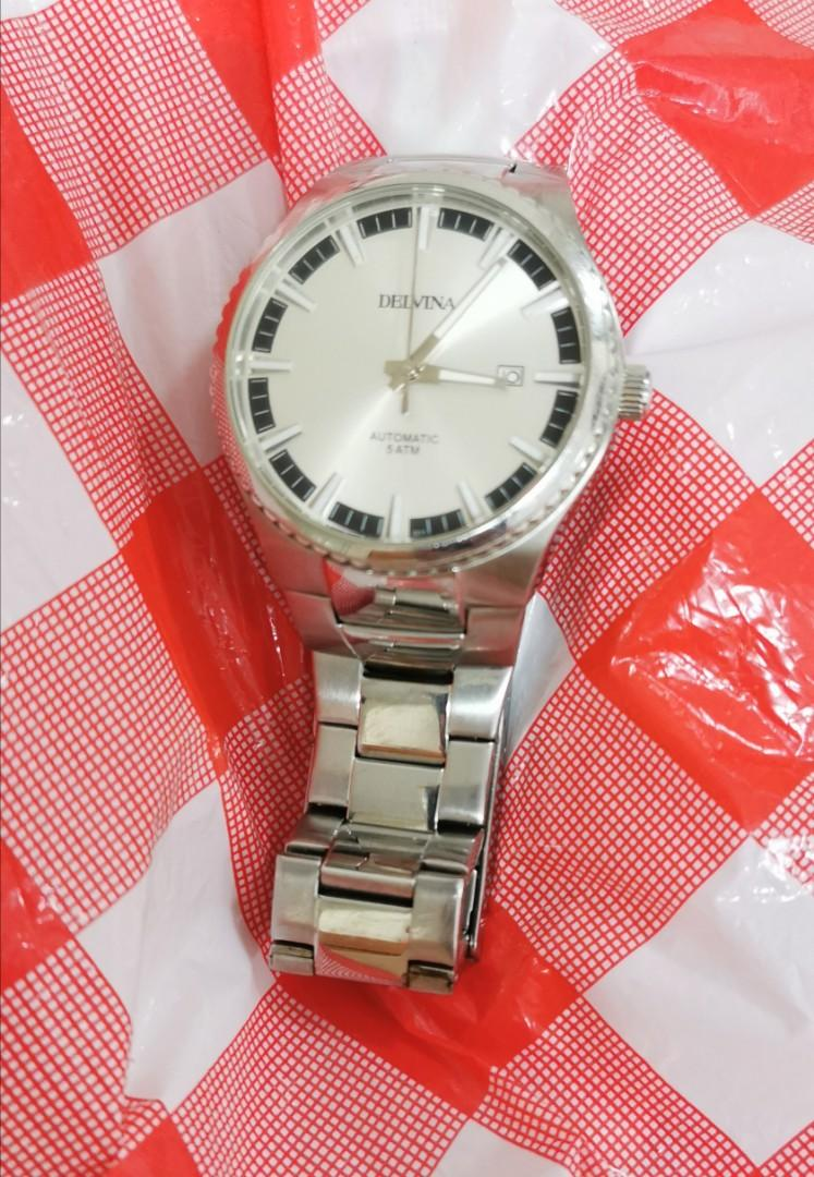 delvina automatic watch. working condition good. w/o crown 42mm