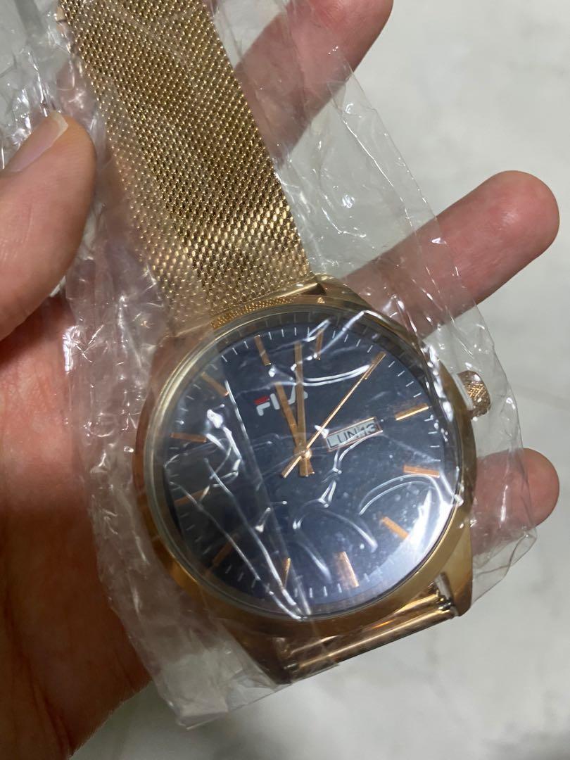 Fila mesh rose gold watch