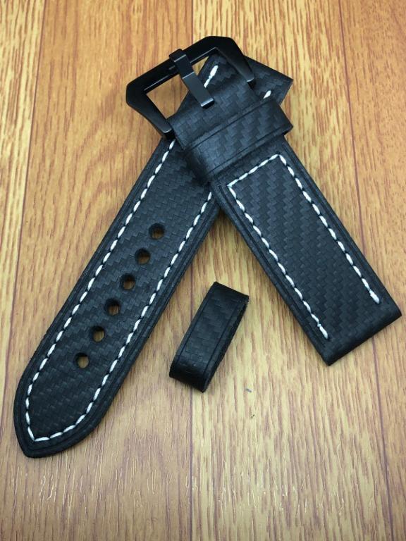 [FlingStraps] Brand New Genuine Cowhide Leather Watch Strap Carbon Fiber Series