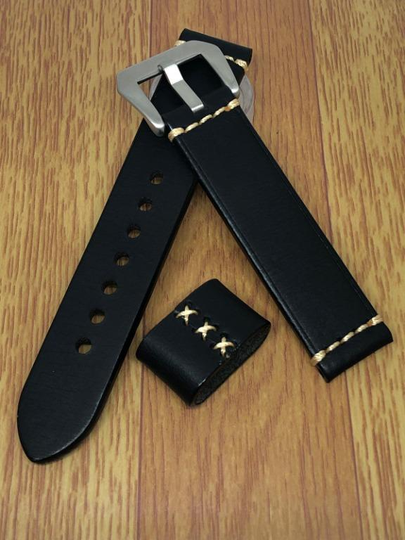 [FlingStraps] Brand New Genuine Cowhide Leather Watch Straps Full Black