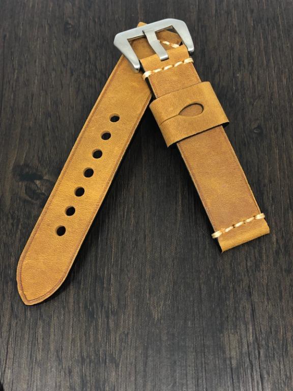 [FlingStraps] Brand New Genuine Cowhide Leather Watch Straps Peanut Brown