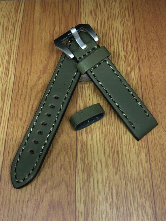 [FlingStraps] Brand New Genuine Cowhide Leather Watch Straps Olive Green